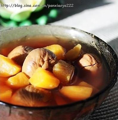 番薯栗子糖水的做法