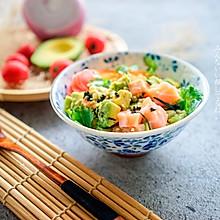 日式三文鱼牛油果拌饭