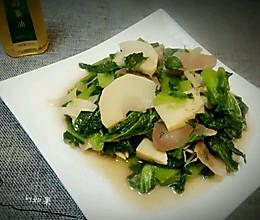 芥菜炒笋#沃康山茶油#的做法