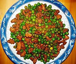 肉叮炒豌豆的做法