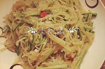 炒秋葵土豆丝