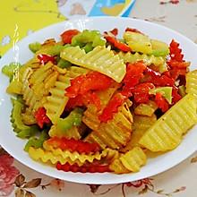 娃儿爱吃的彩椒土豆片#金龙鱼外婆乡小榨菜籽油 最强家乡菜#