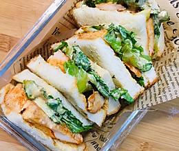 奥尔良鸡排三明治 自己腌制好吃的奥尔良鸡胸肉 低卡又美味的做法