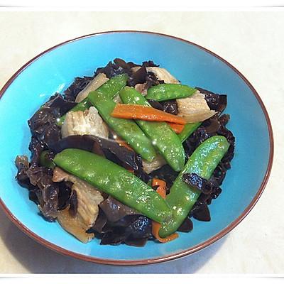 健康快手菜---荷兰豆木耳炒肉