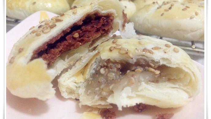 【多妈学烘焙】中式点心-老婆饼(糯米馅/豆沙馅)
