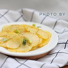 清炒土豆片-快手下饭菜#给老爸做道菜#