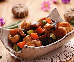 减肥食谱|酱香花菇鸡丁的做法