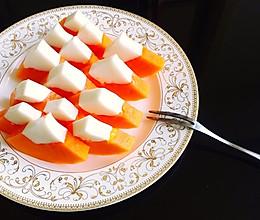木瓜椰奶冻的做法