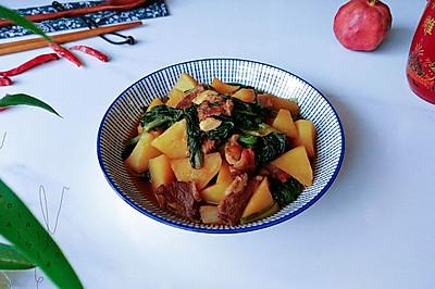 酱肉土豆小白菜