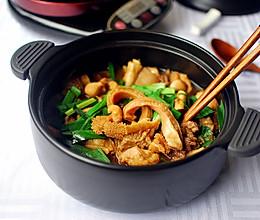 姜葱炆牛杂#尝尽砂锅美食#的做法