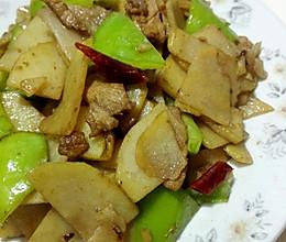 快手菜之青椒肉片土豆片,简单家常菜料酒的做法