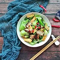 香菇油菜炒豆腐#花10分钟,做一道菜!#的做法图解11