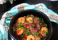 #我们约饭吧#下饭神器之鱼香虾球茄子煲的做法