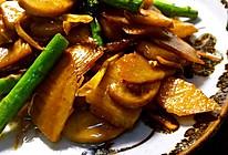 蚝油口蘑爆双笋的做法