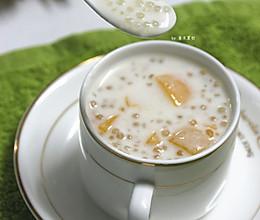夏日甜品黄桃牛奶西米露的做法
