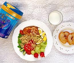 鸡胸肉藜麦沙拉配蓝臻妈妈奶粉的做法
