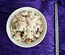虾干芋头饭的做法