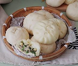 【香菇小白菜包子】#好吃不上火#的做法