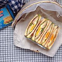 火腿芝士蛋三明治#百吉福食尚达人#的做法图解13