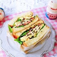 畅快早餐,元气满满一整天  ~黑椒鸡胸肉厚蛋三明治的做法图解11