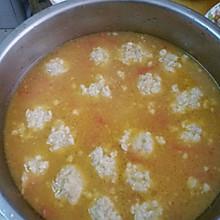 土豆西红柿肉丸汤