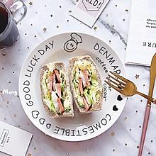 【快手早餐】全麦厚切三明治#美食新势力#