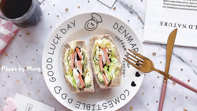 【快手早餐】全麦厚切三明治