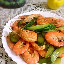 鲜虾黄瓜片+#Gallo橄露橄榄油#