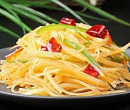 西红柿青椒土豆丝的做法