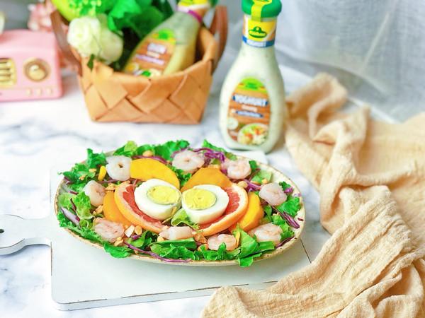 #硬核菜谱制作人#虾仁水果酸乳酪沙拉的做法