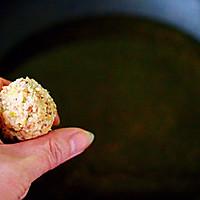 #新年开运菜,好事自然来#团团圆圆的香炸猪肉豆腐丸子的做法图解12