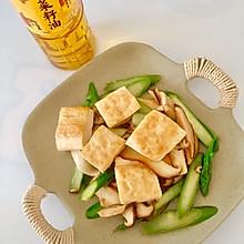 #寻味外婆乡#芦笋香菇香煎豆腐