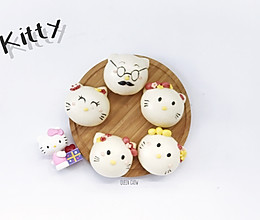 Hello Kitty猫一家人----卡通包子(豆沙馅)的做法