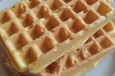 营养早餐|不添加泡打粉、发酵粉的华夫饼一样受娃儿们喜爱
