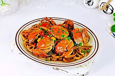 红红火火蟹焖藕片