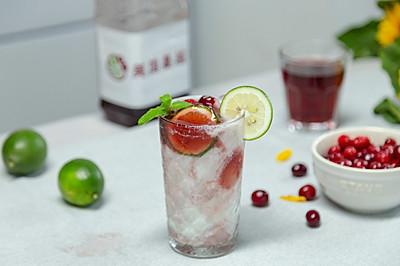 蔓越莓气泡茶冻