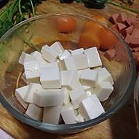 蛋黄豌豆烩豆腐的做法图解2