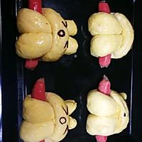 【面包机版】兔兔热狗面包的做法图解11