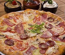 培根彩蔬披萨的做法