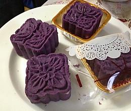 月饼季----少油少糖版 紫薯月饼的做法