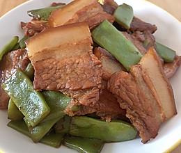 五花肉烧扁豆角的做法