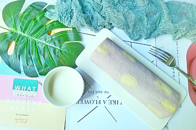 蓝天白云蛋糕卷/给蔚蓝的天空加点少女心