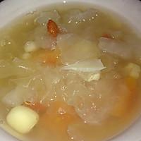 银耳雪梨木瓜营养汤的做法图解3