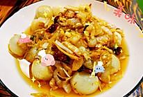 汤圆炒酸白菜的做法