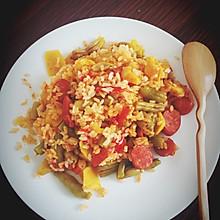 豆角香肠焖饭(电饭锅)