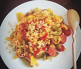 豆角香肠焖饭(电饭锅)的做法