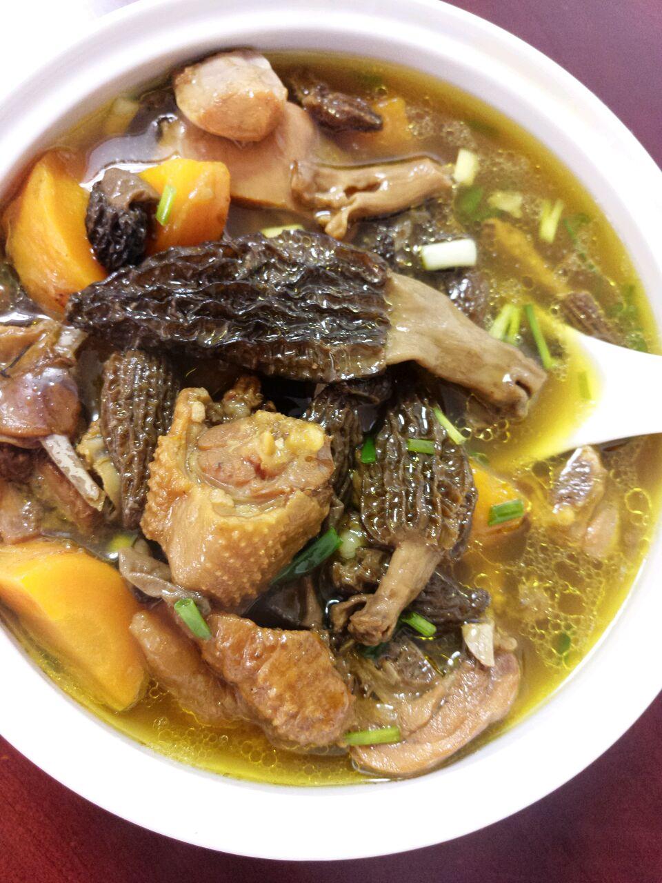 西藏羊肚菌_西藏野生羊肚菌炖土鸡的做法_菜谱_豆果美食