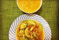 西葫芦番茄炒蛋,配暖胃南瓜小米粥的做法