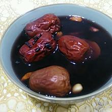 红枣红薯红糖黑米粥