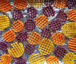#豆果10周年生日快乐#敲级好吃十分简单‼️三色烤薯片的做法
